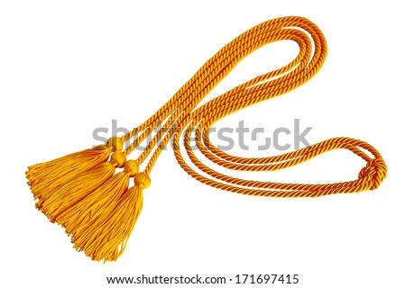 Curvy Graduation honor cord isolated on white background - stock photo