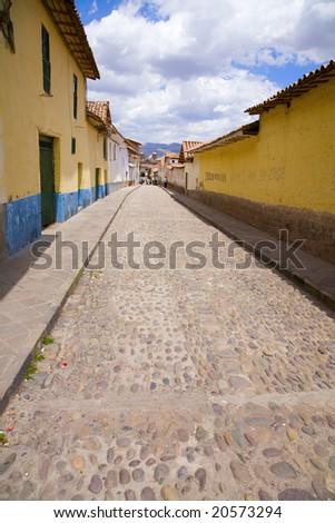 Cusco street - stock photo