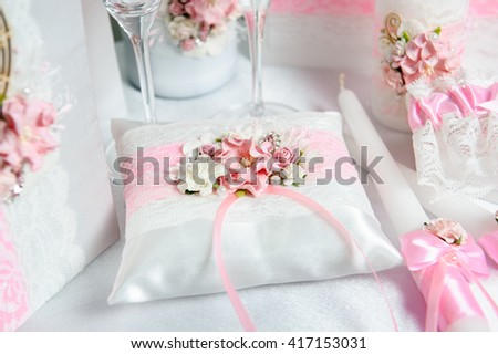 cushion for rings. pink