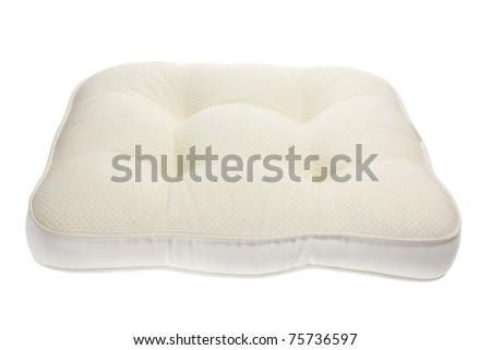 Cushion on White Background - stock photo