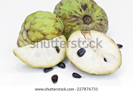 Custard apple and half of custard apple