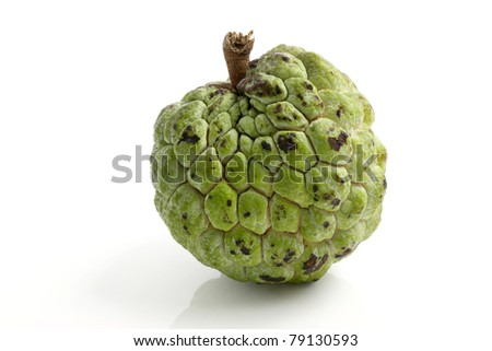 Custard apple isolated in white background - stock photo