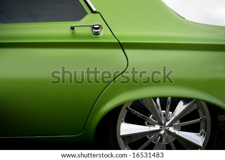 custom car detail - stock photo