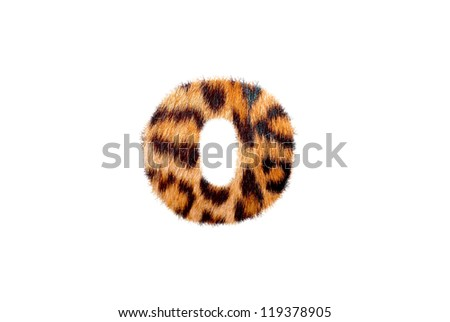 Custom english text base on leopard skin, isolated in white - stock photo