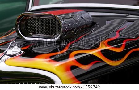 Custom hot rod - stock photo