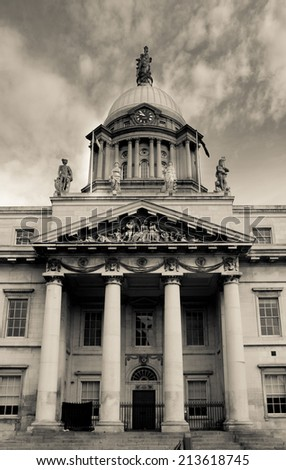 Custom House, Dublin, Ireland - stock photo
