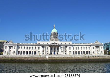 Custom House, Dublin, Ireland. - stock photo