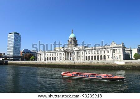 Custom House in  Dublin, Ireland. - stock photo