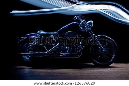 custom motorcycle - stock photo