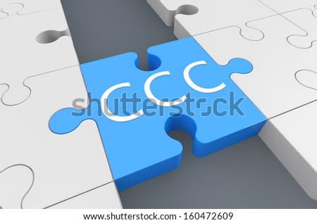 Customer Care Center - puzzle 3d render illustration - stock photo