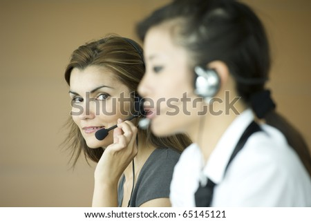 Customer care representatives - stock photo