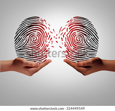 Customer data transfer and sharing private client information with another person or company as a social security exchange concept and identity protection.  - stock photo