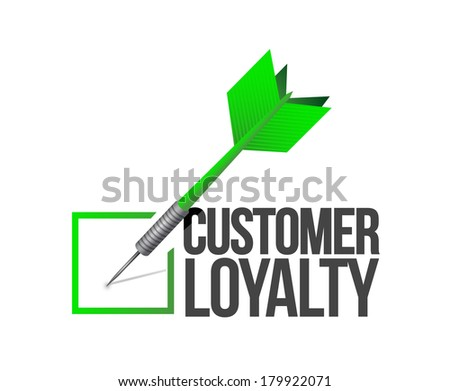 customer loyalty dart check mark illustration design over a white background - stock photo