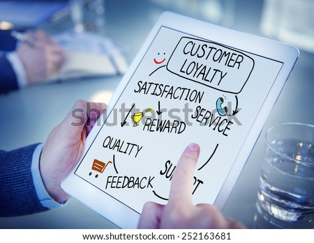Customer Loyalty Satisfaction Support Strategy Concept - stock photo