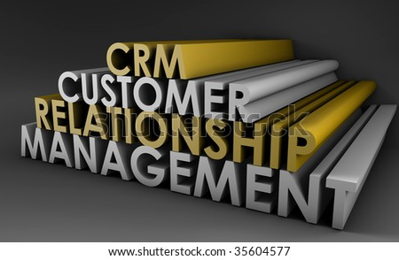 Customer Relationship Management CRM in 3d Art - stock photo