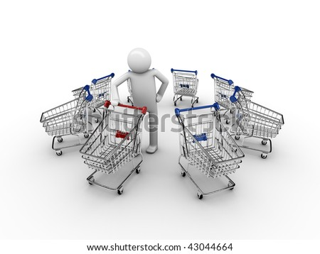 Customer's choise: where do I want to shop today? - stock photo