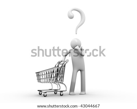 Customer's choose: what do I want to buy today? - stock photo