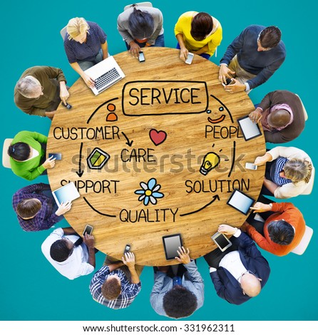 Customer Satisfaction Service Hospitality Support Concept - stock photo