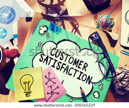 Customer Satisfaction Service Support Assistance Concept - stock photo