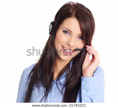 CUSTOMER SERVICE AGENT - stock photo