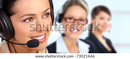 CUSTOMER SERVICE AGENT LOOKING TO THE FUTURE. - stock photo