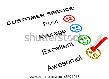 Customer Service Feedback Form Showing an Awesome Rating - stock photo