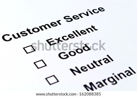 customer service feedback isolated over white background - stock photo