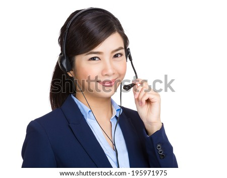 Customer service operator - stock photo