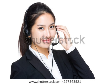 Customer service operator - stock photo