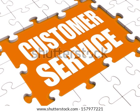 Customer Service Puzzle Showing Consumer Support Or Helpdesk - stock photo