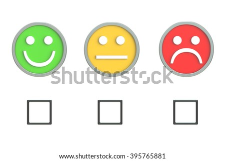Customer Service Quality Feedback 3D rendering - stock photo