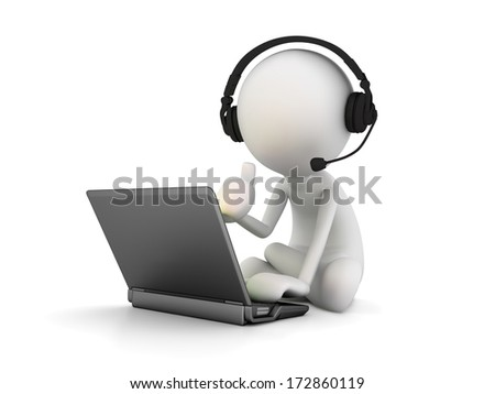 Customer Service Representative - stock photo