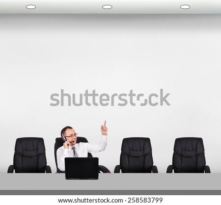 customer service representative advises the customer - stock photo