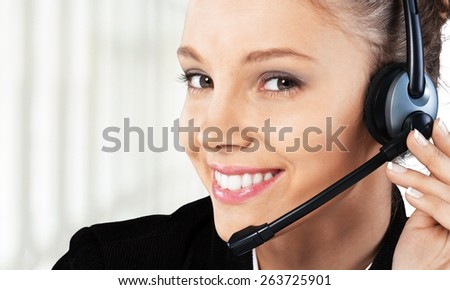 Customer Service Representative. Customer service - stock photo