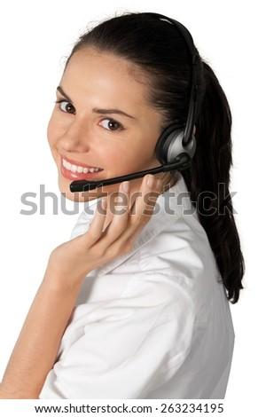 Customer Service Representative, Receptionist, Service. - stock photo
