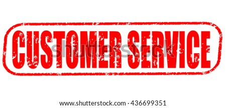 customer service stamp on white background. - stock photo