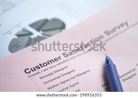 Customer service   survey  - stock photo