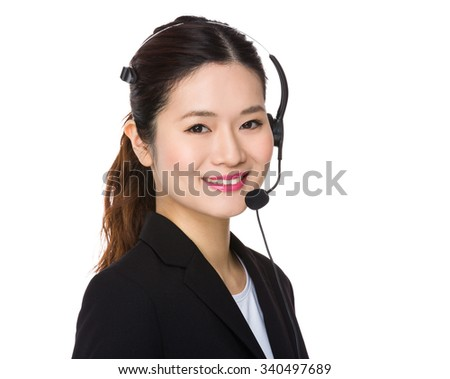 Customer services consultant agent - stock photo