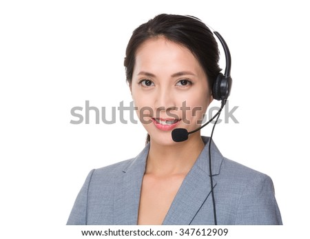Customer services officer - stock photo