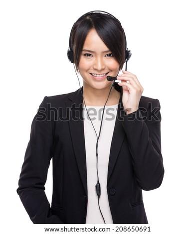 Customer services operator - stock photo