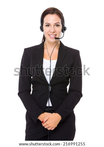 Customer services representative - stock photo