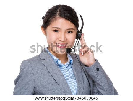 Customer services representative - stock photo