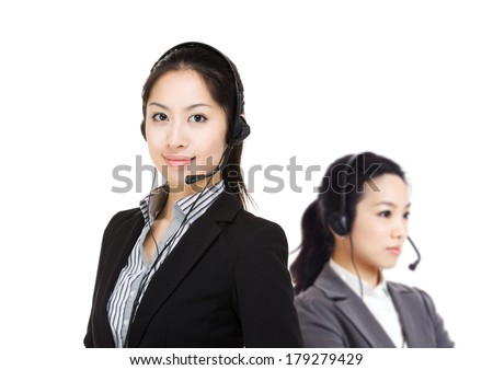 Customer services team - stock photo