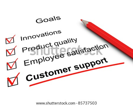 Customer support checklist. - stock photo