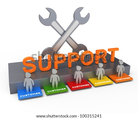 Customer support concept - stock photo