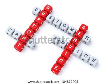 Customer support crosswords - stock photo