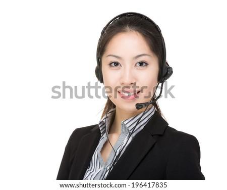 Customer support operator - stock photo