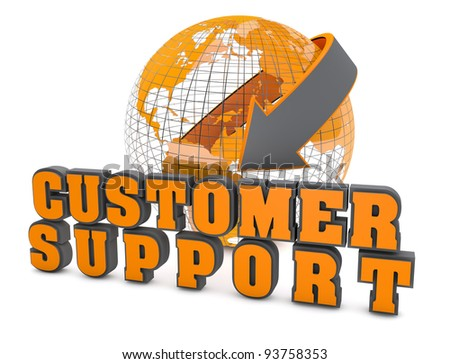 Customer support symbol - stock photo