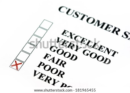 Customer survey with bad results. - stock photo