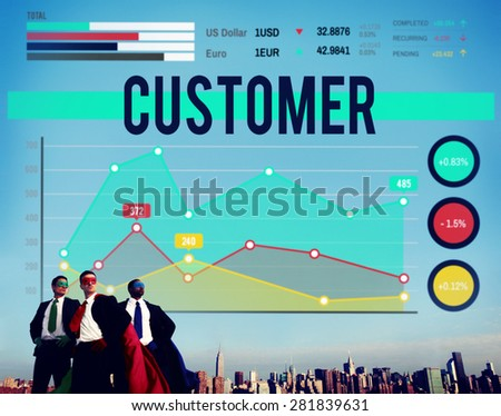 Customer Target Marketing Business Strategy Concept - stock photo